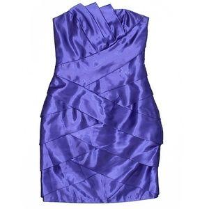 Jessica McClintock Dark Purple Cocktail Dress